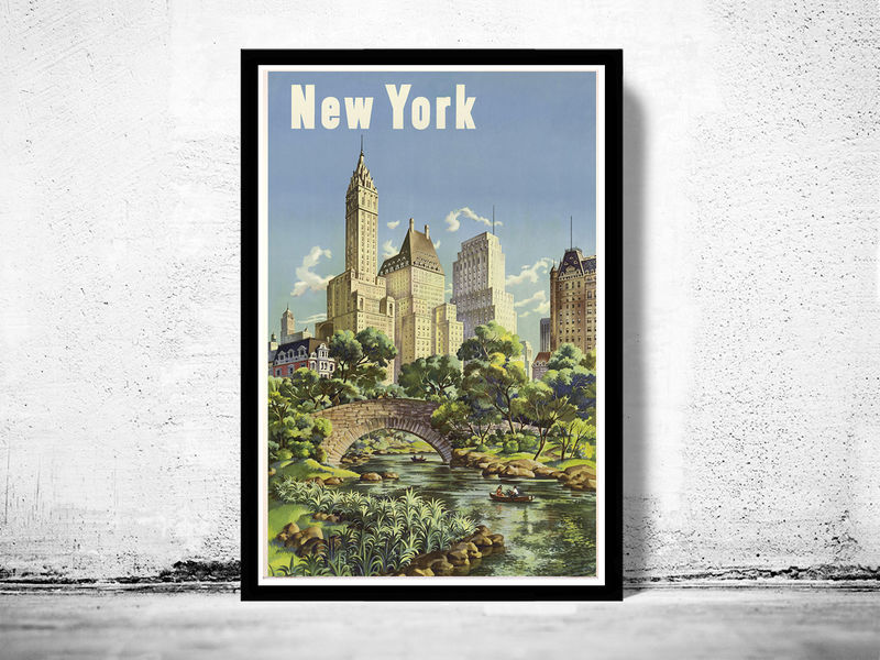 Vintage Poster of  New York Tourism poster travel - product image