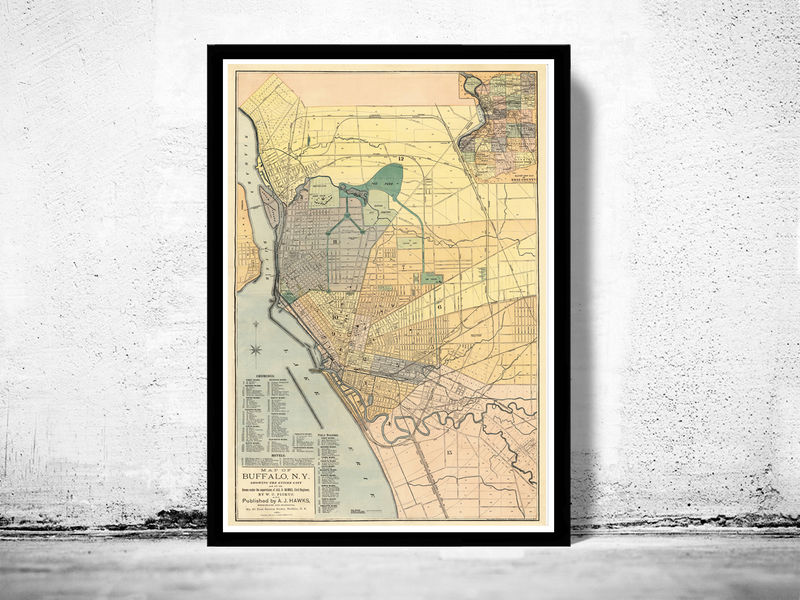 Old Map of Buffalo New York  1881 - product image