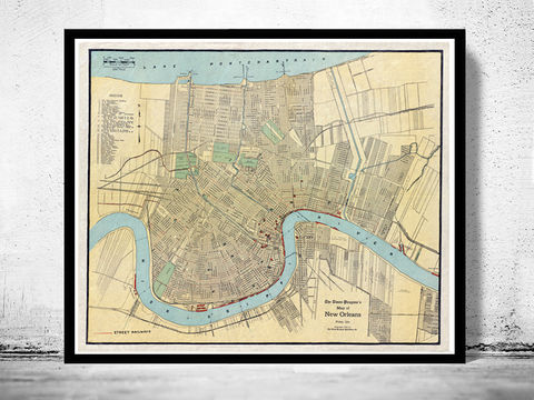 Old,Map,of,New,Orleans,1919,Art,Reproduction,Open_Edition,United_States,old_map,vintage_map,antique_map,new_orleans,new_orleans_poster,new_orleans_decor,new_orleans_gift,new_orleans_plan,new_orleans_map,map_of_new_orleans,new_orleans_vintage,new_orleans_retro