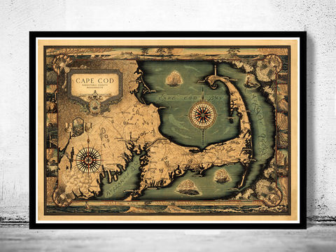 Old,Map,of,Cape,Cod,Massachusetts,1931,Vintage,map of cape cod, cape cod map, vintage cape cod, cape cod poster, old maps for sale, maps reproductions