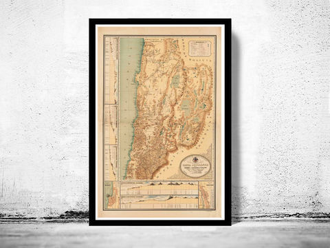 Old,Map,of,Chile,Atacama,Cordilleras,Antofagasta,1892,chile, map of chile, chile poster, poster, atacama, cordilheras, antofagasta, old map, maps