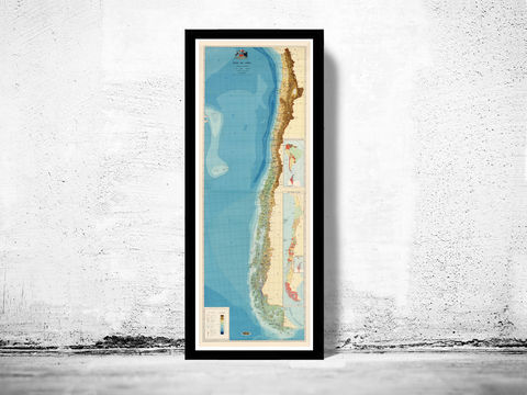 Old,Map,of,Chile,Atacama,Cordilleras,1968,chile, map of chile, chile poster, poster, atacama, cordilheras, antofagasta, old map, maps