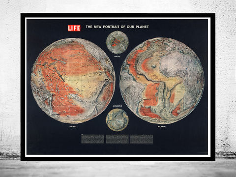 World,Map,Atlas,New,Portrait,of,The,Life,world map, life magazine, new portrait of the world