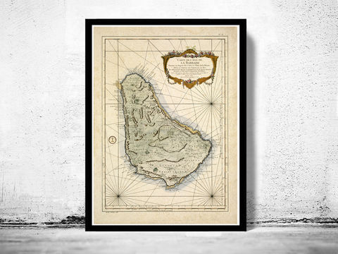Old,Map,of,Barbados,Antilles,1787,Vintage,antilles, barbados, barbados islands, barbados map, caribbean map, old maps for sale, old map reproductions
