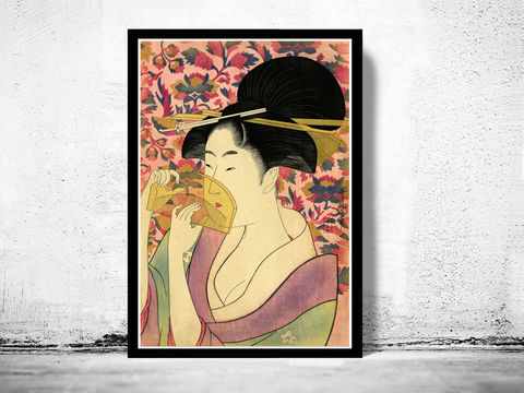Japanese,Art,,Utamaro,Kushi,(Comb),1785, puppin, young lady , Art,Reproduction,Open_Edition,japanese,japanese_art,japa_art,japan_wall_decor,japanese_poster,hiroshige,art_japan,vintage_asia,japan_retro,japan_art