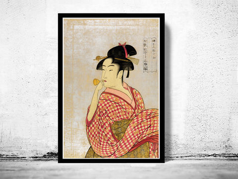Japanese,Art,,Utamaro,Young,lady,blowing,on,a,poppin,,1790, puppin, young lady , Art,Reproduction,Open_Edition,japanese,japanese_art,japa_art,japan_wall_decor,japanese_poster,hiroshige,art_japan,vintage_asia,japan_retro,japan_art