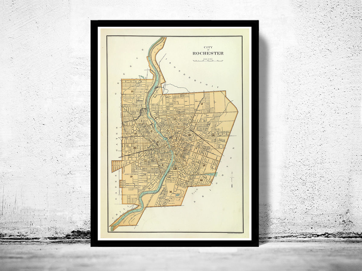 Old Map of Rochester,  United States 1895 - product images  of