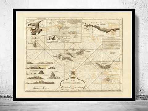 Old,Map,of,Açores,Azores,Islands,1787,,Portuguese,map,Art,Reproduction,Open_Edition,Vintage_map,vintage_poster,old_map,map_poster,portugal,mapa_de_portugal,antique_map_map,portugal_poster,portuguese,retro,map_of_portugal,azores,acores_map