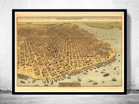 Old,San,Francisco,Panoramic,View,1912,Vintage,Map,Art,Reproduction,Open_Edition,city_map,retro,antique,birdseye,panoramic,san_francisco,san_francisco_poster,san_francisco_map,vintage_map,birdseye_view,san_francisco_plan,san_francisco_decor,san_francisco_city