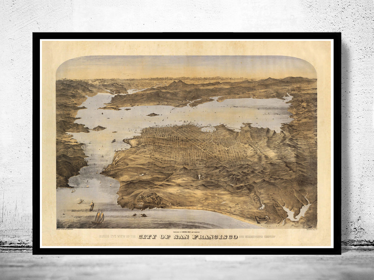 Old San Francisco Panoramic View 1868 - product images  of
