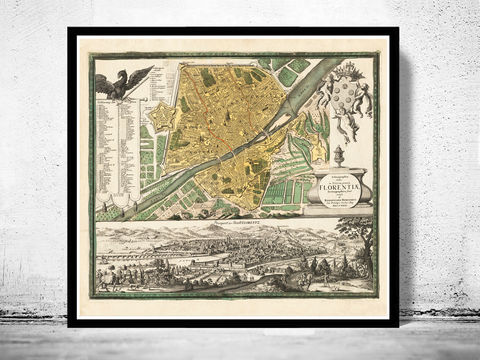 Old,Map,of,Florence,Firenze,1731,Antique,Vintage,Italy,Art,Reproduction,Open_Edition,vintage,plan,city_map,retro,antique,Europe,italy,italia,florence,firenze,old_map,vintage_map,vintage_poster, old maps reproductions, old maps for sale, map reproduction