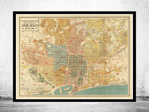 Old,Map,of,Barcelona,1930,Spain,Vintage,Art,Reproduction,Open_Edition,vintage_map,city_plan,england,old_map,engraving,barcelona_map,map_of_barcelona,cataluna,spain,streets,old_map_of_barcelona,guia_de_Barcelona,barcelona_poster, barcelona map, map of barcelon, old maps for sale