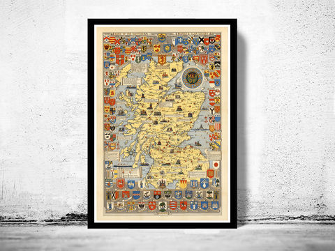 Old,Map,of,Scotland,History,Clans,Vintage,scotland, clans, map,Art,Reproduction,Open_Edition,old_map,atlas,map_of_scotland,scotland_map,edinburgh,vintage_map_scotland,antique_map_scotland,retro,antique_map,vintage_map,scotish,decor