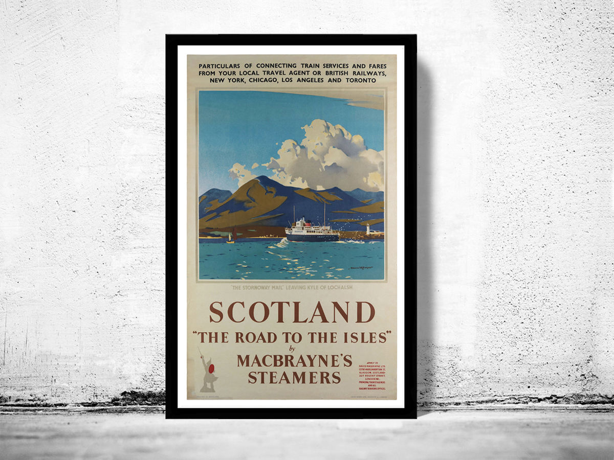 Vintage Poster of Scotland, Travel Poster Tourism 1930-40 - product image