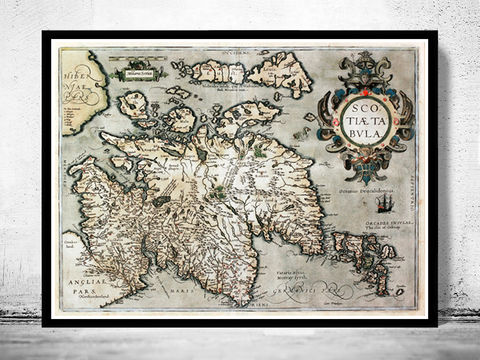 Old,Map,of,Scotland,1602,Sea,Monster,Vintage,Art,Reproduction,Open_Edition,old_map,antique,atlas,detailed,North_Britain,map_scotland,sea_monster,engraving,vintage_map,scotland_map,map_of_scotland
