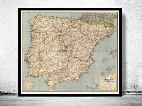 Old,Map,of,Spain,1850,Art,Reproduction,Open_Edition,Vintage_map,espana,portugal,lisbon,iberia,old_map_spain,spain_map,portugal_map,iberia_map,hispania,spain_vintage_map,vintage_spain,madrid_map, map of spain, spain map, spain poster, madrid, vintage map, antique map