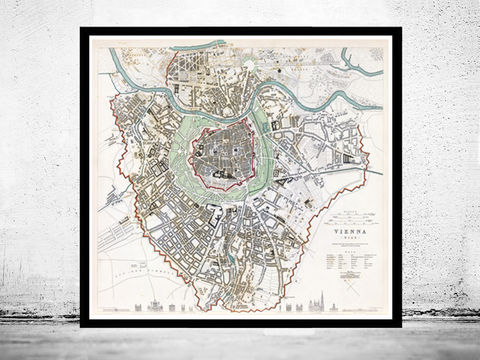 Old,Map,of,Vienna,Wien,with,gravures,,Austria,1833,Vintage,Art,Reproduction,Open_Edition,vintage,plan,illustration,wien,vienna,austria,gravure,vintage_map,old_map,vintage_poster,map_of_vienna,map_vienna