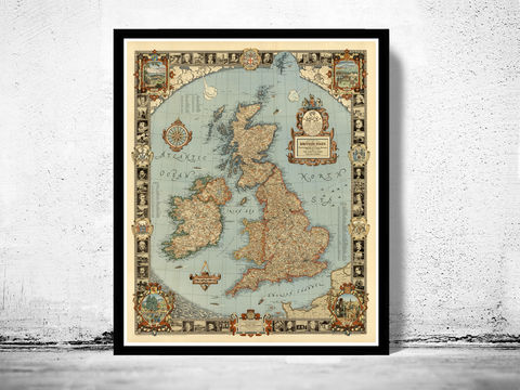 Story,Map,of,United,Kingdom,Great,Britain,Vintage,great britain, united kingdom, Art,Reproduction,Open_Edition,city,vintage,plan,UK,England,London,United_Kingdom,Scotland,Ireland,Britannia,old_map,england_map,map_of_england