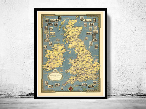 Old,Map,of,United,Kingdom,Great,Britain,1939,Vintage,great britain, united kingdom, Art,Reproduction,Open_Edition,city,vintage,plan,UK,England,London,United_Kingdom,Scotland,Ireland,Britannia,old_map,england_map,map_of_england