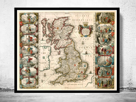 Old,Map,of,United,Kingdom,,Ireland,,Scotland,,England,1642,UK,,Britannia,great britain, united kingdom, Art,Reproduction,Open_Edition,city,vintage,plan,UK,London,United_Kingdom,Scotland,Ireland,old_map,england_map,map_of_england