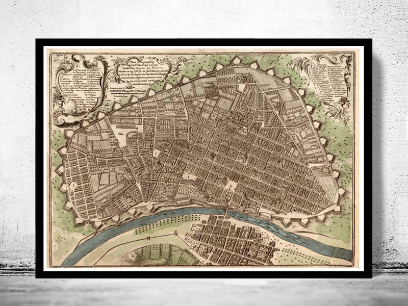 Old map of Peru Lima 1748 - product image