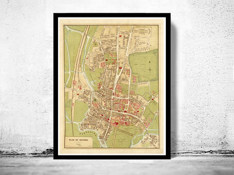 Old,Map,of,Oxford,1910,England,Vintage,UK,Art,Reproduction,Open_Edition,oxford, oxford uk, oxford map, map of oxford, oxford poster, map, old map, maps and prints