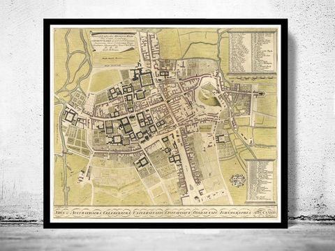 Old,Map,of,Oxford,1733,England,Vintage,UK,Art,Reproduction,Open_Edition,oxford, oxford uk, oxford map, map of oxford, oxford poster, map, old map, maps and prints