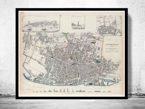 Old,Map,of,Liverpool,with,gravures,,england,1836,Vintage,Art,Reproduction,Open_Edition,vintage,illustration,gravure,vintage_map,city_plan,liverpool,England,United_Kingdom,old_map,city_map,liverpool_map,map_of_liverpool,liverpool_poster