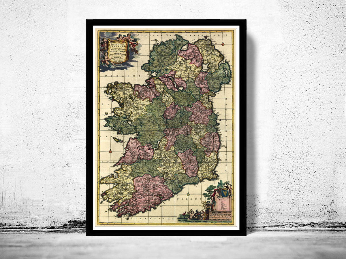 Vintage Map of Ireland 1700 - product images  of