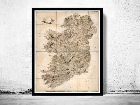 Old,Map,of,Ireland,1811,Art,Reproduction,Open_Edition,United_Kingdom,old_map,map_of_ireland,ireland_map,medieval,irish,ireland_poster,vintage_map,antique_ireland_map,vintage_ireland,dublin,ireland_retro