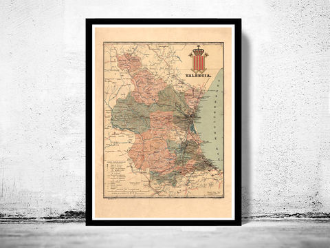 Old,Map,of,Valencia,1900,Spain,valencia, valencia map, valencia spain, valencia poster, espana valencia, old map, vintage map, vintage poster,old map of valencia