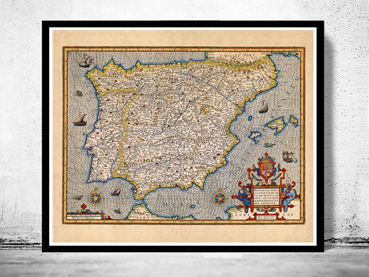 Vintage Soil Map Spain