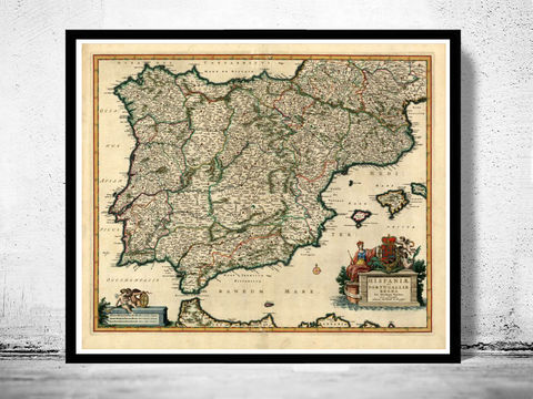 Old,Map,of,Spain,1640,Art,Reproduction,Open_Edition,Vintage_map,espana,portugal,lisbon,iberia,old_map_spain,spain_map,portugal_map,iberia_map,hispania,spain_vintage_map,vintage_spain,madrid_map, map of spain, spain map, spain poster, madrid, vintage map, antique map