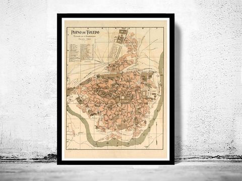 Old,Map,of,Toledo,Spain,1904,Vintage,map,Art,Reproduction,Open_Edition,vintage_map,city_plan,old_map,toledo_map,map_of toledo,spain,old_map_of_toledo,guia_de_toledo,toledo_poster,toledo_guia,toledo