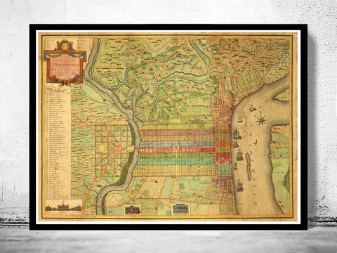 Old,Map,of,Philadelphia,1802,Art,Reproduction,Open_Edition,vintage,plan,illustration,philadelphia,United_States,USA,city_map,city_plan,1777,old_map,vintage_poster