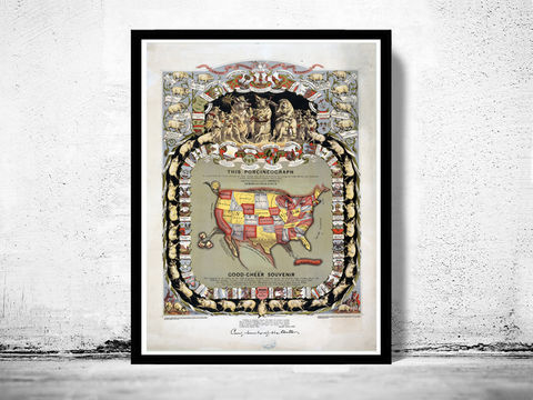 Old,Map,of,United,States,America,,,Porciform,Vintage,pigs,representing,U.S.,1876,Porcineograph,Art,Reproduction,Open_Edition,old_map,antique,atlas,1863,illustration,porciform,united_states,humour,vintage_map,vintage_poster,map_of_united_states