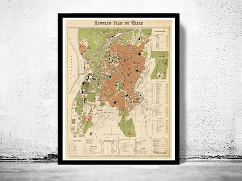 Old,Map,of,Cairo,1886,Egypt,Vintage,cairo map, cairo, cairo egypt, egypt, cairo poster, old map of cairo