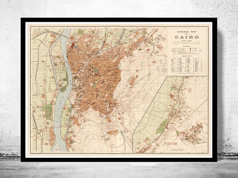 Old,Map,of,Cairo,Egypt,1920,Vintage,cairo map, cairo, cairo egypt, egypt, old map of cairo, vintage map of cairo, cairo map print, old maps for sale, old maps shop