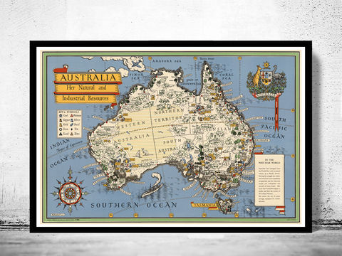 Old,Map,Australia,Oceania,New,Zealand,Antique,1946,Vintage,Art,Reproduction,Open_Edition,vintage,old_map,antique,atlas,illustration,New_Zealand,oceania,australia_map,new_zealand_map,map_of_australia,oceania_map,australia_vintage