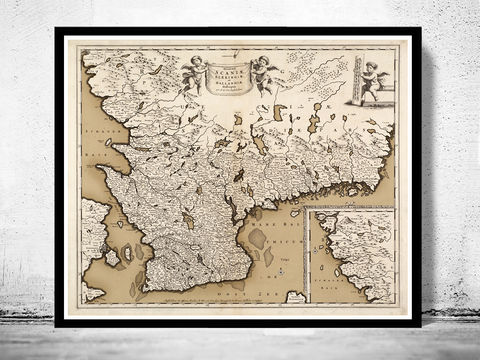 Old,Map,of,Scania,Skane,Sweden,1680,scania map, old map of skania, skania sweden map, skania, skane map, Art,Reproduction,Open_Edition,vintage,old_map,antique,illustration,sweden,norway,scandinavia,sweden_map,norway_map,scandinavia_map,sweden_art,norwegian,stockholm, old map of sweden, swed