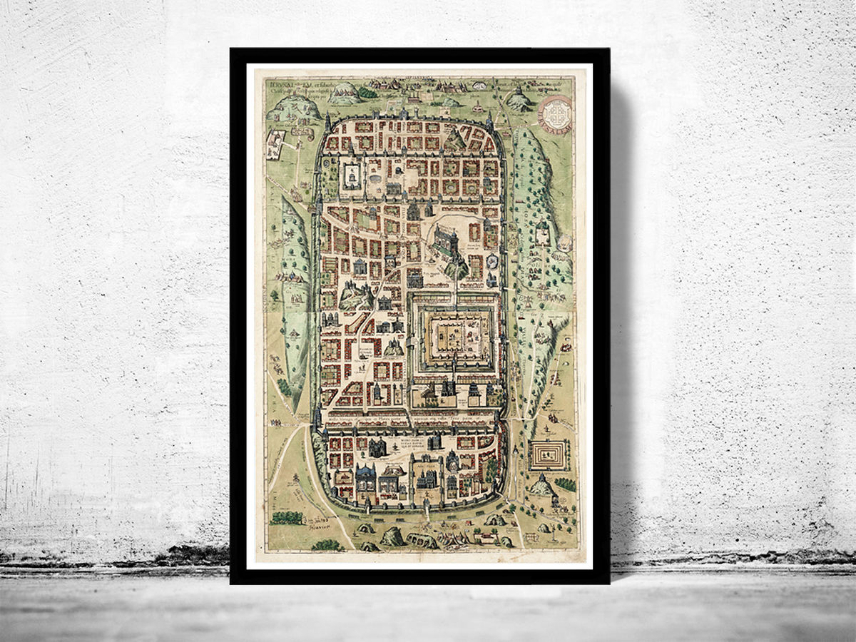 Old Map of Jerusalem Holy Land Palestine 1584 - product images  of