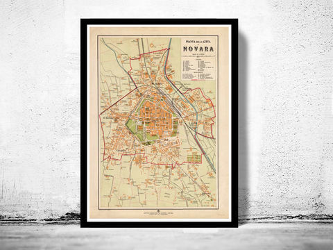 Old,Map,of,Novara,1930,Antique,Vintage,Italy,Art,Reproduction,Open_Edition,city_map,retro,antique,Europe,italy,italia,novara print, novara italy, novara italia, novara old print, novara old map, novara map, novara poster