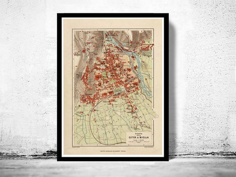 Old,Map,of,Biella,1930,Antique,Vintage,Italy,Art,Reproduction,Open_Edition,city_map,retro,antique,Europe,italy,italia,Biella print, Biella italy, Biella old map, Biella map, Biella poster, Biella mapa
