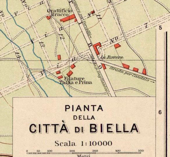 Old Map of Biella 1930 Antique Vintage Italy - product images  of