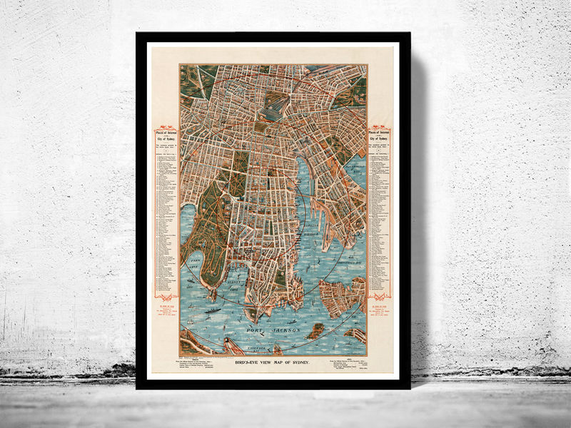 Old Map of Sydney 1905 Australia, New South Wales  - product image