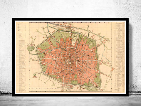 Old,Map,of,Bologna,1890,Antique,Vintage,Italy,Art,Reproduction,Open_Edition,city_map,retro,antique,Europe,italy,italia,bologna italy, bologna map, bologna print, mapa di bologna, bologna poster