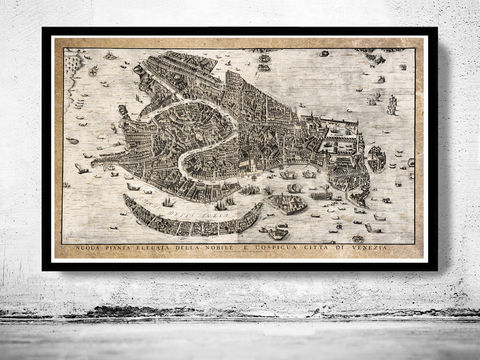 Antique,Map,of,Venice,Venetia,Venezia,1729,Art,Reproduction,Open_Edition,plan,venice,Italy,1886,old_map,italia,Veneza,city_plan,vintage_map,map_of_venice,venice_poster,venice_map