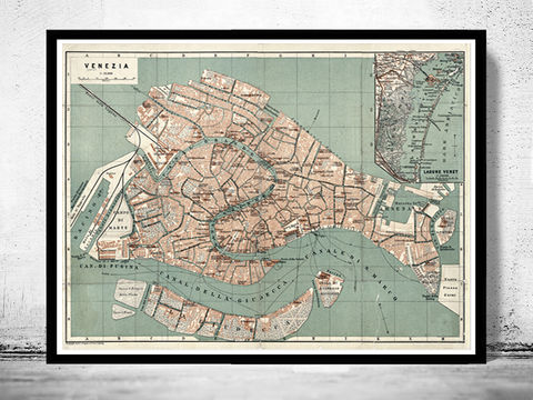 Vintage,Old,Map,of,Venice,Venetia,Venezia,,,Italy,1886,Art,Reproduction,Open_Edition,plan,venice,old_map,italia,Veneza,city_plan,vintage_map,map_of_venice,venice_poster,venice_map