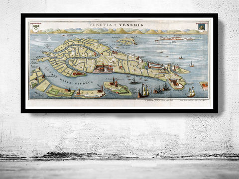 Vintage,Old,Map,of,Venice,Venetia,Venezia,,,Italy,1720,Art,Reproduction,Open_Edition,vintage,plan,venice,old_map,atlas,italia,Veneza,city_plan,vintage_map,venice_map