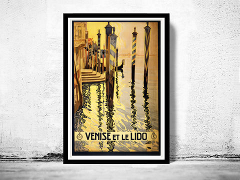 Vintage,Poster,of,Venice,et,Le,Lido,Venezia,Italy,Italia,1920,Tourism,poster,travel,Art,Reproduction,Open_Edition,vintage_poster,Italia_tourism,italy,italy_vintage,travel_poster,italy_travel,italien_decor,venice,venezia,venice_italy,venice_poster,lido_poster,venice_et_lido
